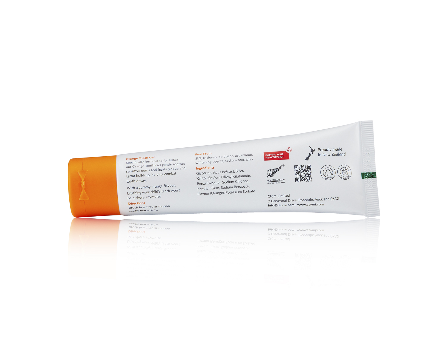 KIDS ORANGE TOOTH GEL